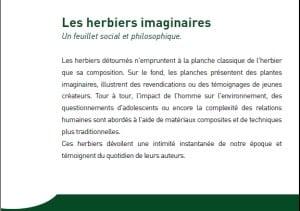 herbiers imaginaires