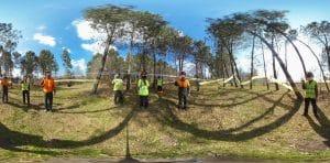 Travail autour de la réalité virtuelle, filmé en 360°, avec les terminales Bac Pro Forêt de Sabres